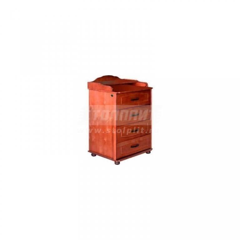 Купить Комод 4 ящика  на ножках узкий, 650 мм. 50 в интернет магазине мебели СТОЛПЛИТ