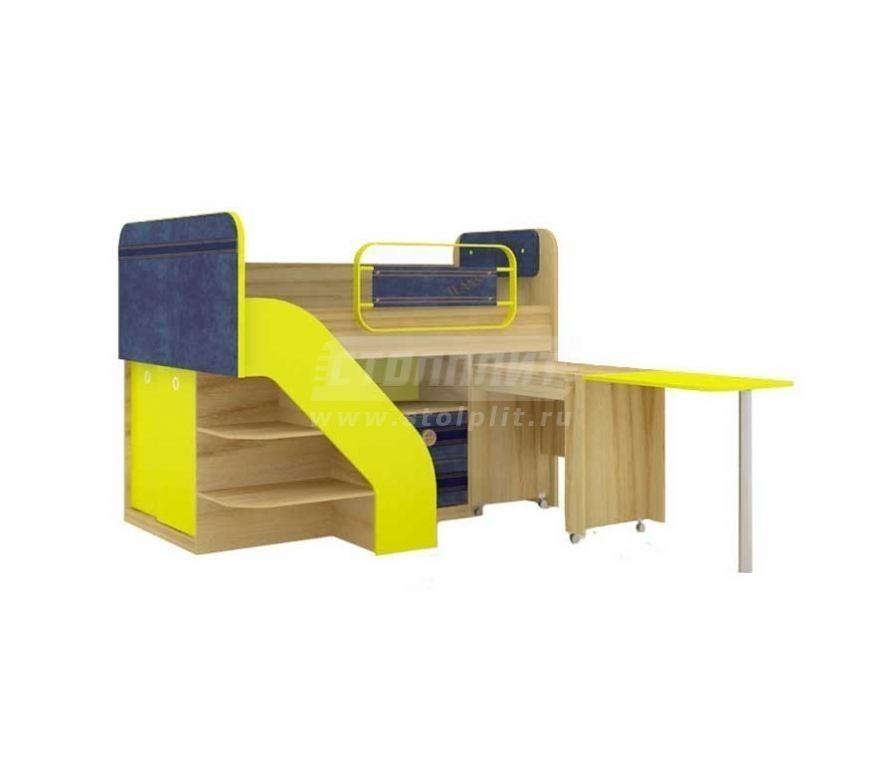 Купить Мебель для детских комнат Джинс кровать комбинированная со столом 507.140 в интернет магазине мебели СТОЛПЛИТ