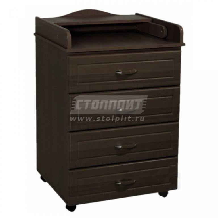 Купить Kомод пеленальный Ведрус Мишка 5 4 ящика 650/430/994 в интернет магазине мебели СТОЛПЛИТ