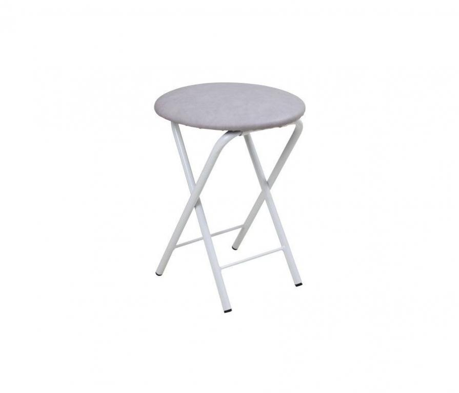 Купить Табурет Складной белый серый в интернет магазине мебели СТОЛПЛИТ