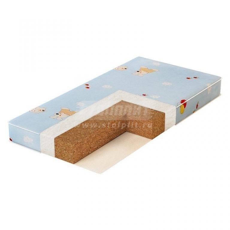 Купить Plitex Матрас в кроватку Юниор Двойной Кокос Ю-119-11 в интернет магазине мебели СТОЛПЛИТ