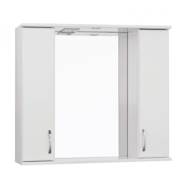 Купить Шкаф зеркальный (зеркало в ванную) Турин-2 (Панда-2) 80 со светом в интернет магазине мебели СТОЛПЛИТ