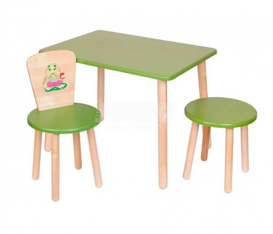 Купить Набор №3 Столик со стульчиком и табуреткой в интернет магазине мебели СТОЛПЛИТ