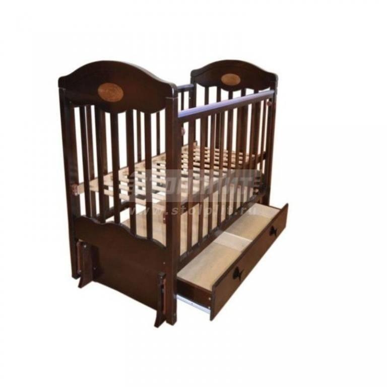 Купить Кровать детская Мой малыш 11 маятник попереч+продол качания ящик в интернет магазине мебели СТОЛПЛИТ