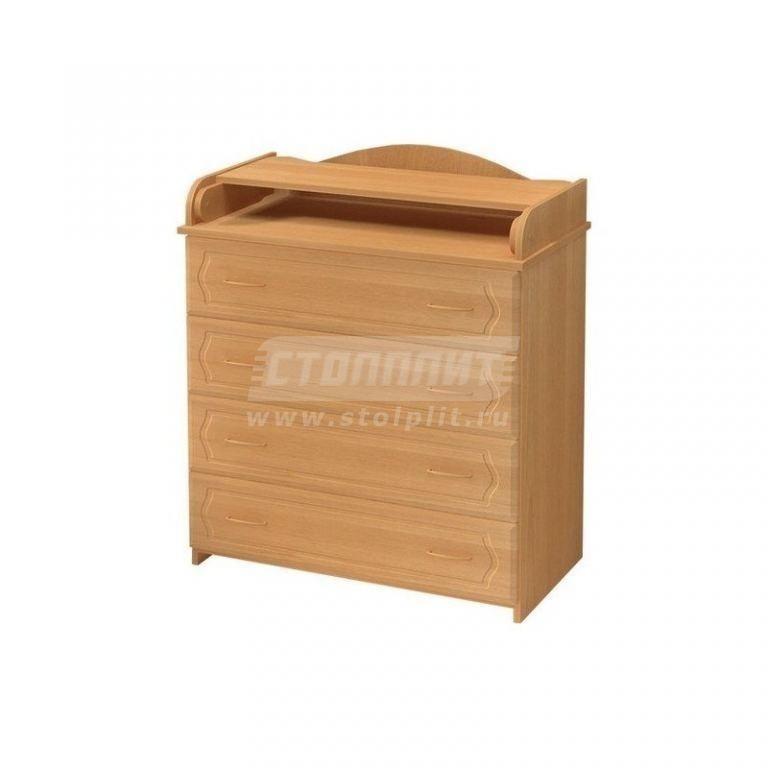 Купить Комод КП-2 МДФ натуральный-бук в интернет магазине мебели СТОЛПЛИТ