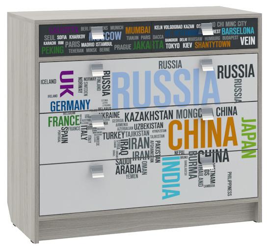Купить Комод для детской География в интернет магазине мебели СТОЛПЛИТ