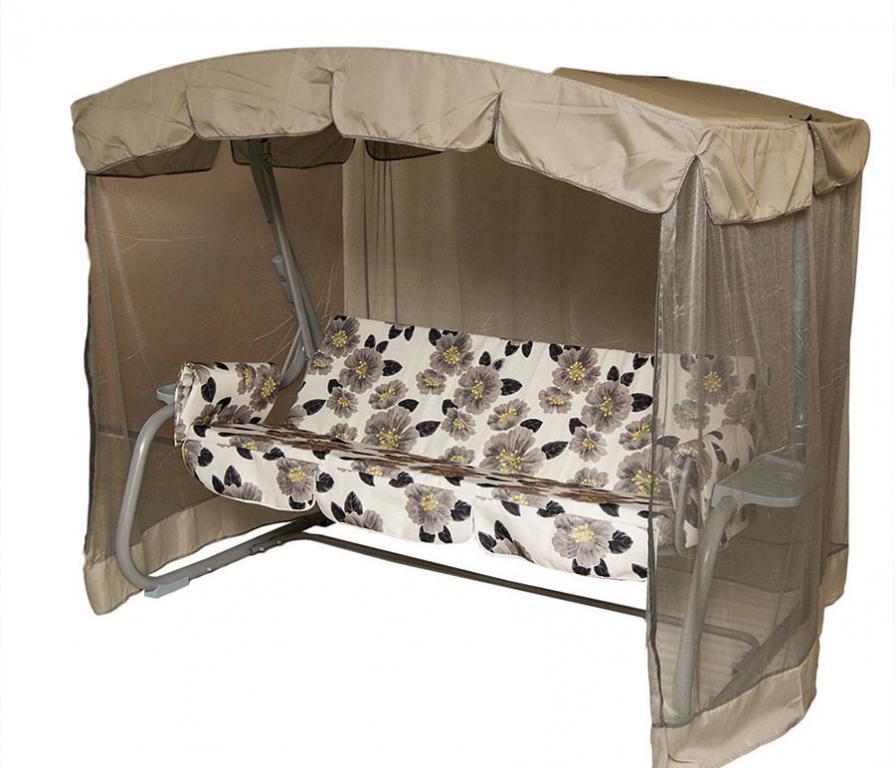 Купить Качели садовые Турин с москитной сеткой в интернет магазине мебели СТОЛПЛИТ