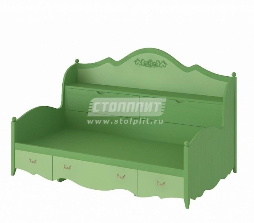 Купить Кровать-тахта с 5-ю ящиками (спальное место 90 х 190) в интернет магазине мебели СТОЛПЛИТ