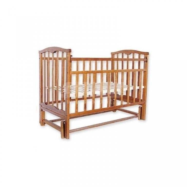 Купить Кроватка детская Золушка-5 маятник продольный, (орех) в интернет магазине мебели СТОЛПЛИТ
