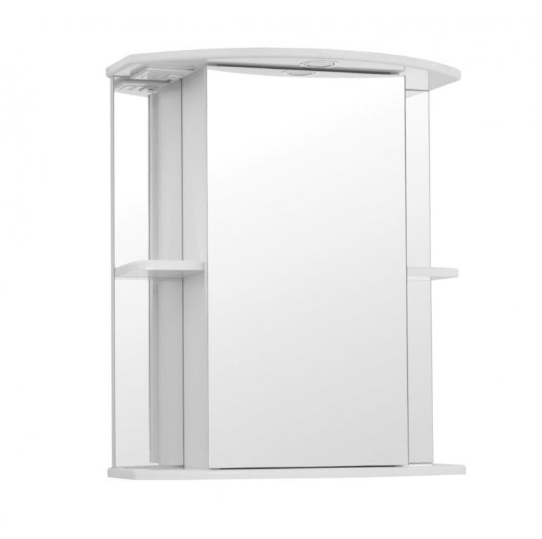 Купить Шкаф зеркальный (зеркало в ванную) Мадрид 60 со светом в интернет магазине мебели СТОЛПЛИТ