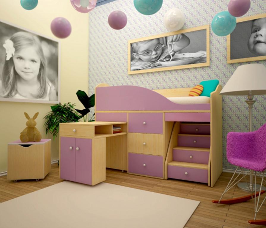 Купить Детский комплекс Вжик с комодом в интернет магазине мебели СТОЛПЛИТ