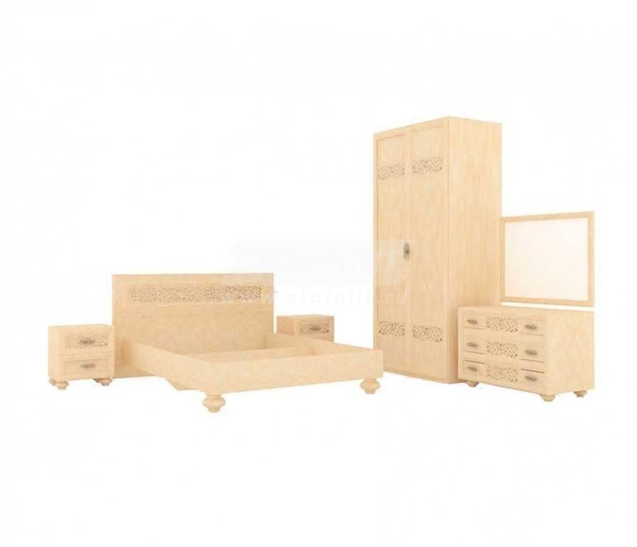 Купить Мебель для спальни Александрия (Кожа Ленто) комплектация № 4 в интернет магазине мебели СТОЛПЛИТ