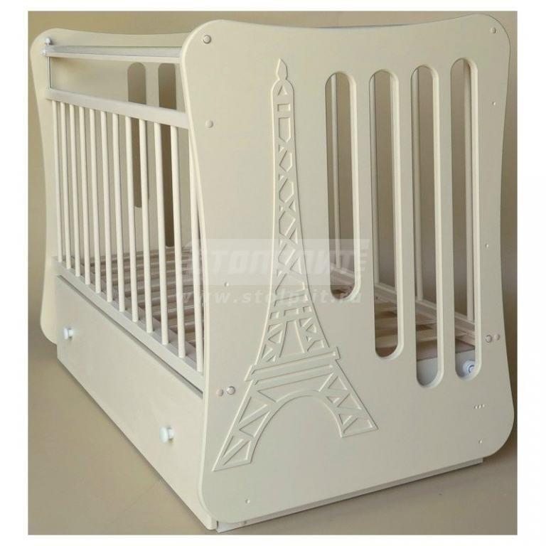 Купить Кровать детская Вояж маятник поперечный с ящ, (слоновая кость) в интернет магазине мебели СТОЛПЛИТ