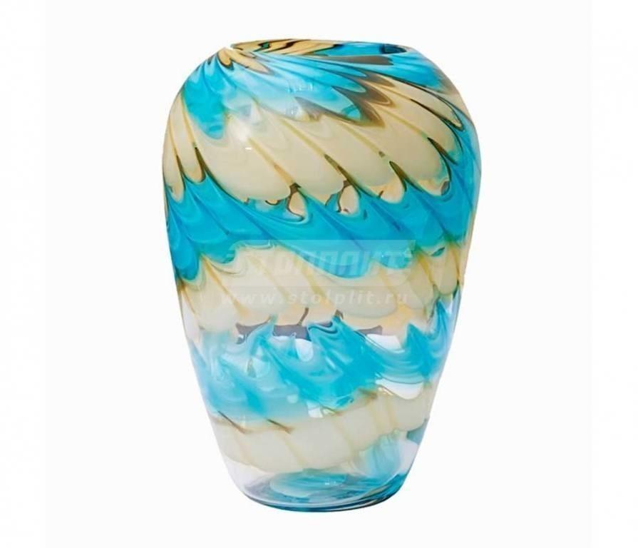 Купить Ваза стеклянная HJ666-28-F51 в интернет магазине мебели СТОЛПЛИТ