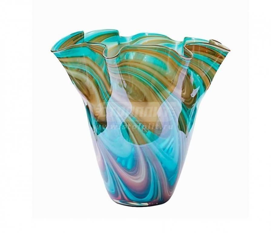 Купить Ваза стеклянная HJ6016-28-G4 в интернет магазине мебели СТОЛПЛИТ