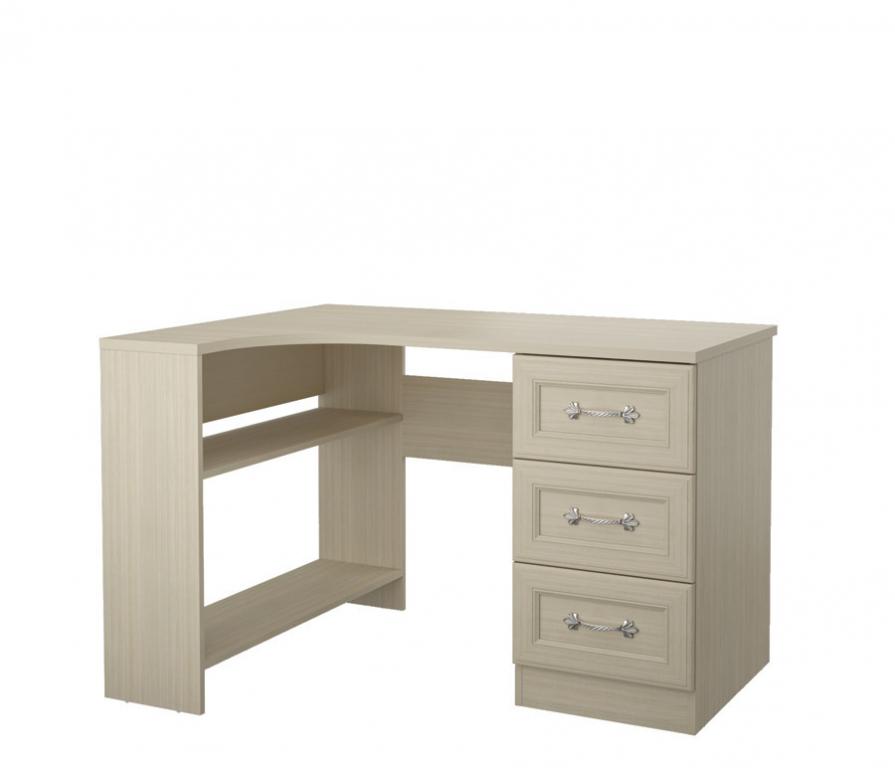 Купить Дженни СТЛ.127.10 Стол угловой левый 3- ящиками в интернет магазине мебели СТОЛПЛИТ