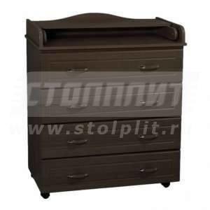 Купить Kомод пеленальный Ведрус Мишка 1 4 ящика 825/430/994 в интернет магазине мебели СТОЛПЛИТ
