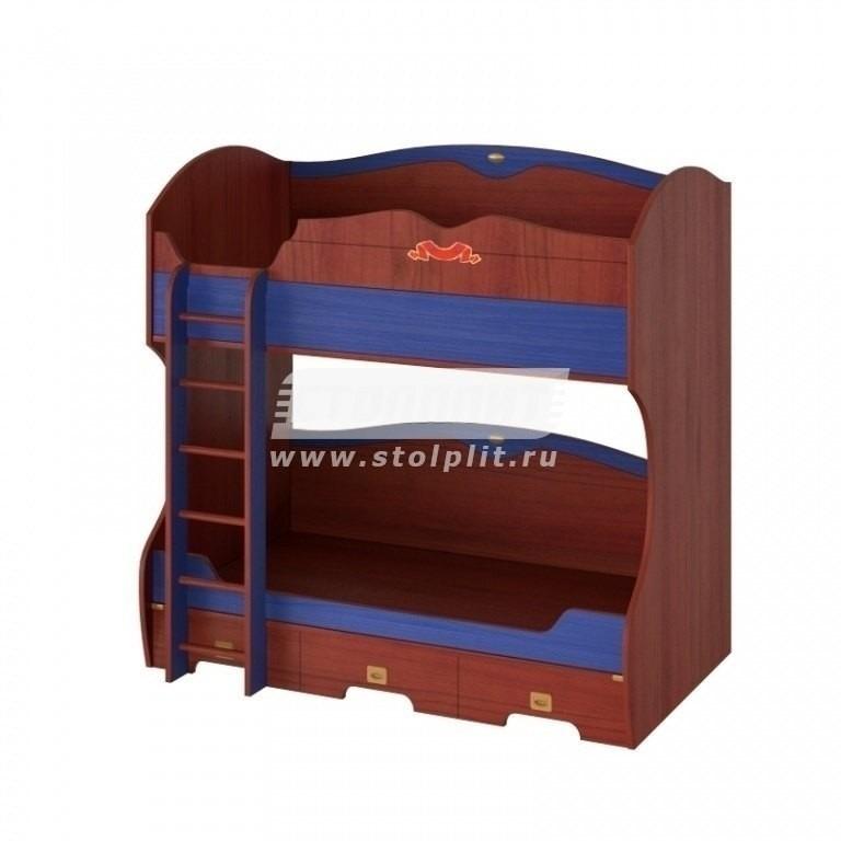 Купить Двухярусная кровать с лестницей в интернет магазине мебели СТОЛПЛИТ