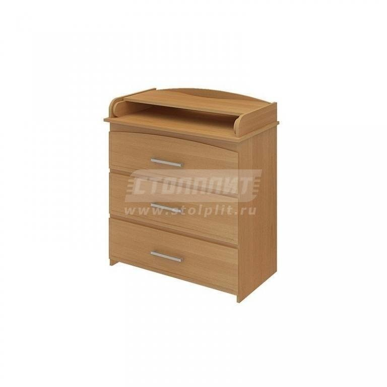 Купить Комод КП-3 3 ящ МДФ бук в интернет магазине мебели СТОЛПЛИТ