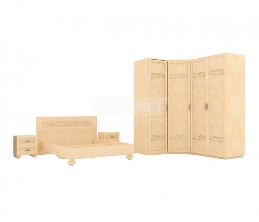 Купить Мебель для спальни Александрия (Кожа Ленто) комплектация № 1 в интернет магазине мебели СТОЛПЛИТ