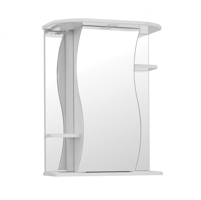 Купить Шкаф зеркальный (зеркало в ванную) Лилия 65 с подсветкой в интернет магазине мебели СТОЛПЛИТ