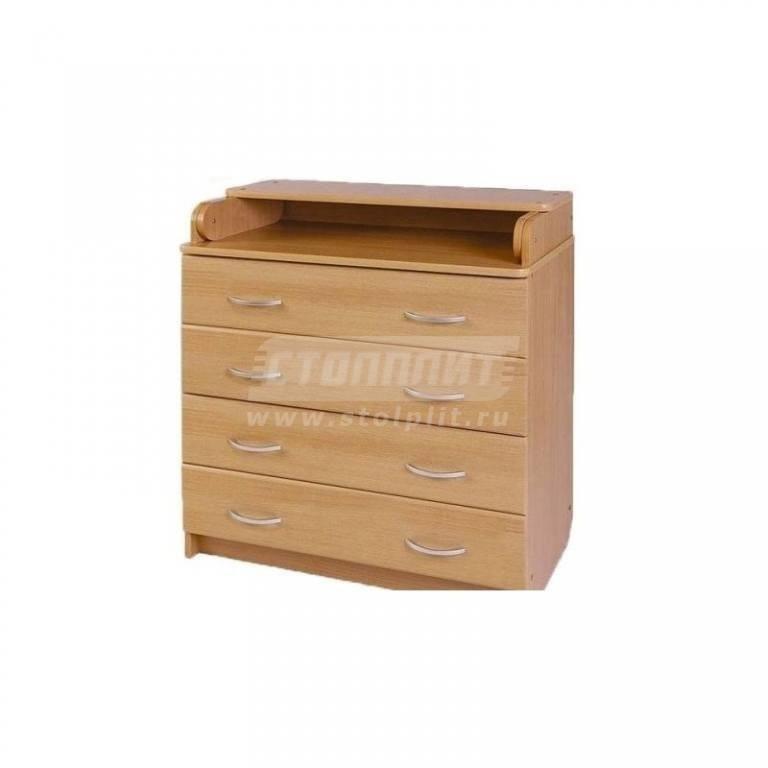 Купить Комод Ульяна 2 ЛДСП 800/4 ящ. в интернет магазине мебели СТОЛПЛИТ