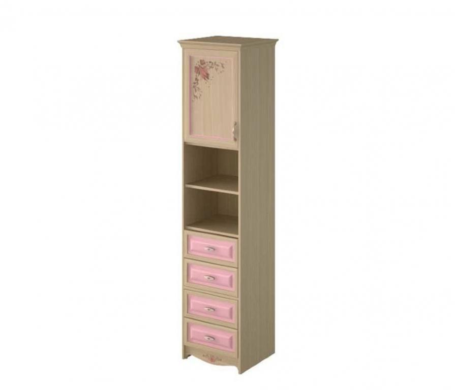Купить Шкаф узкий (ЛЕВЫЙ), 1-дверный с 4-мя ящиками и одной полкой в интернет магазине мебели СТОЛПЛИТ