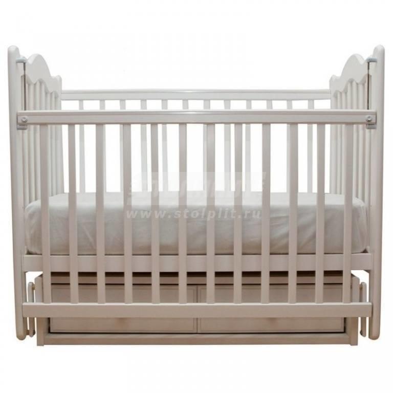 Купить Детская кроватка СМ Дюймовочка белый 7 в интернет магазине мебели СТОЛПЛИТ