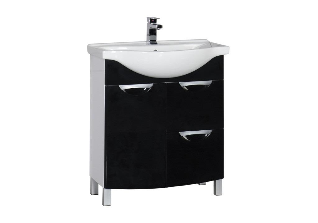 Купить Тумба Aquanet Асти 75 б\к  черный в интернет магазине мебели СТОЛПЛИТ