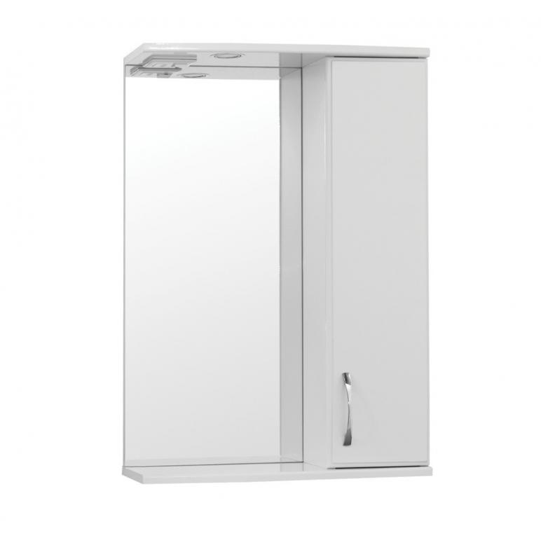 Купить Шкаф зеркальный (зеркало в ванную) Турин (Панда) 60 со светом в интернет магазине мебели СТОЛПЛИТ