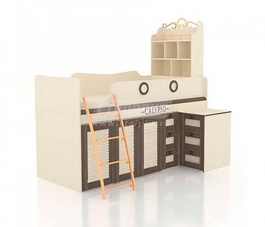 Купить Мебель для детских комнат Калипсо (для мальчиков) кровать комбинированная со столом 509.230 в интернет магазине мебели СТОЛПЛИТ