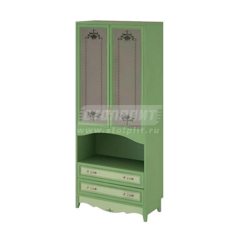 Купить Шкаф 2-х дверный (СТЕКЛО), с 2-мя ящиками. в интернет магазине мебели СТОЛПЛИТ