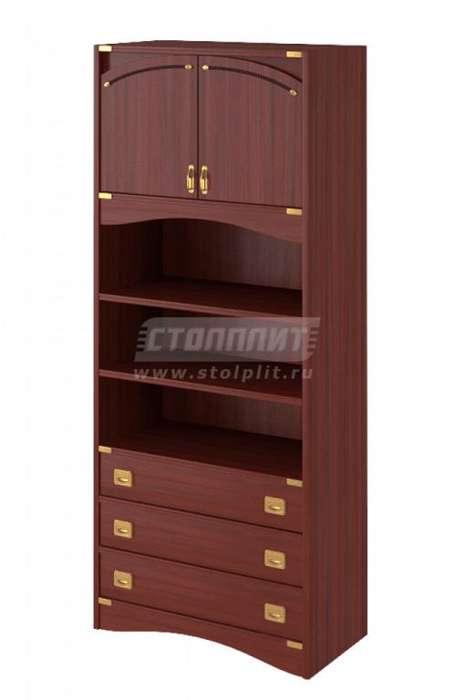 Купить Шкаф 2-двери,3-ящика и 2-открытые полки в интернет магазине мебели СТОЛПЛИТ