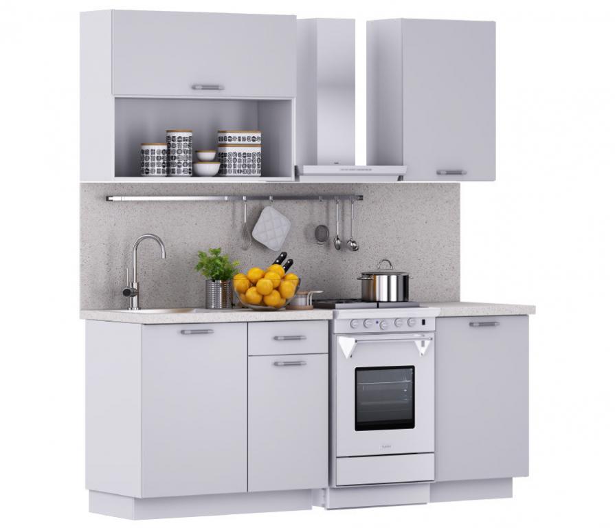 Купить Надежда Кухня 1400 Белый (столешница Сонора + мойка круглая) в интернет магазине мебели СТОЛПЛИТ