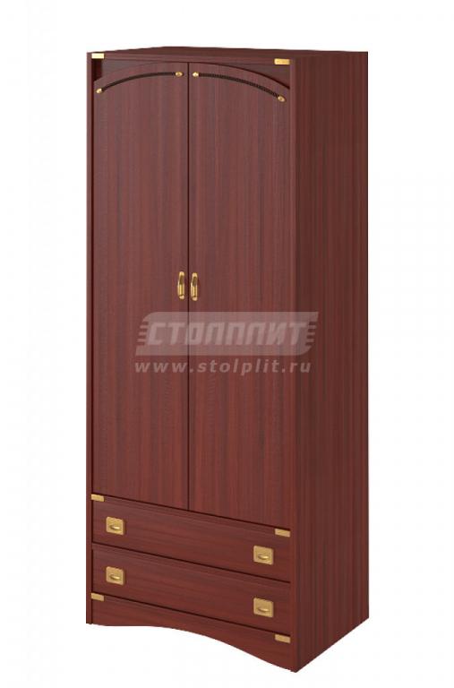 Купить Шкаф 2-x дверный с 2-мя ящиками в интернет магазине мебели СТОЛПЛИТ