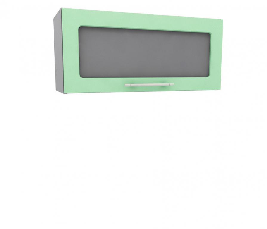 Купить Анна полка горизонтальная с витриной АП-280 Бирюза в интернет магазине мебели СТОЛПЛИТ