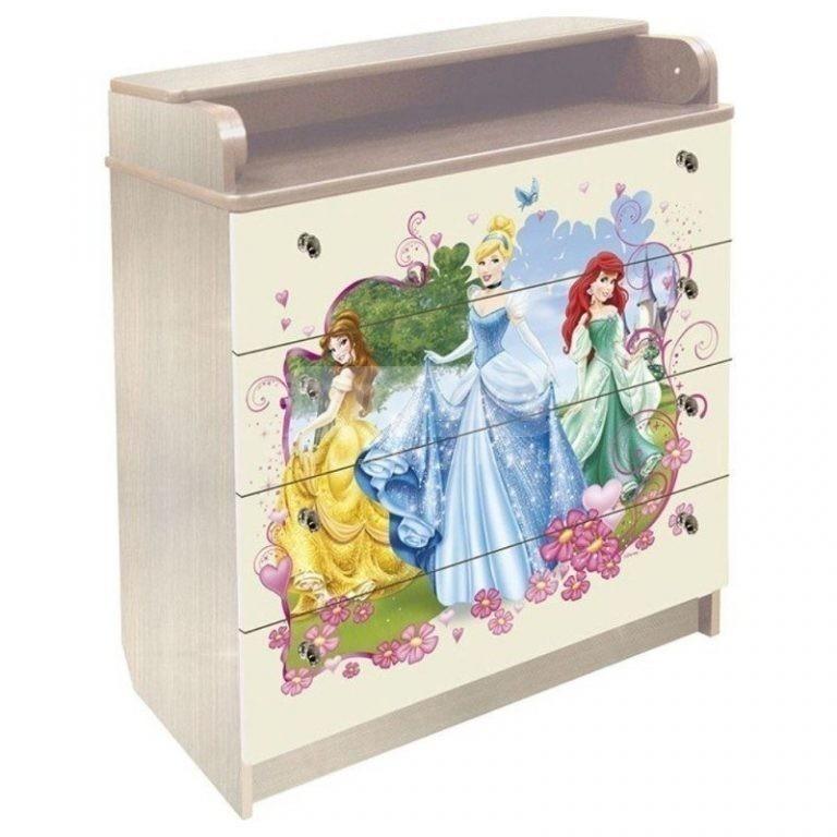 Купить Комод пеленальный Принцессы 60/4-44 в интернет магазине мебели СТОЛПЛИТ