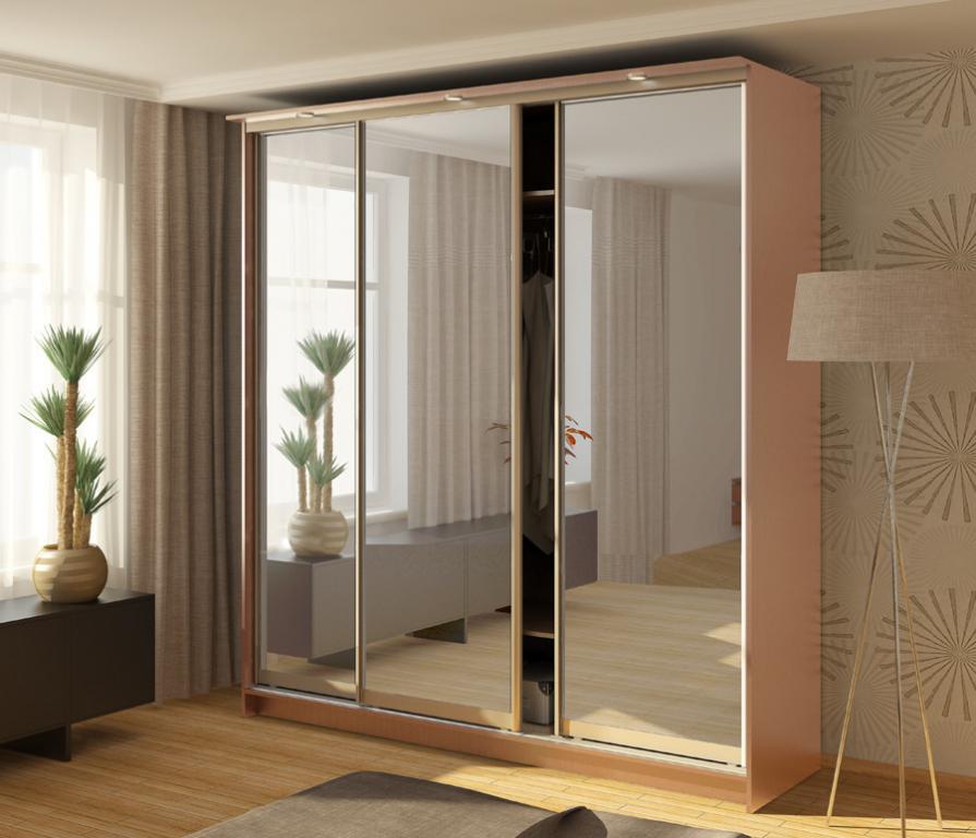 Шкаф 3-х дверный сб-1101бп дуб молочный + дверь зеркало купи.