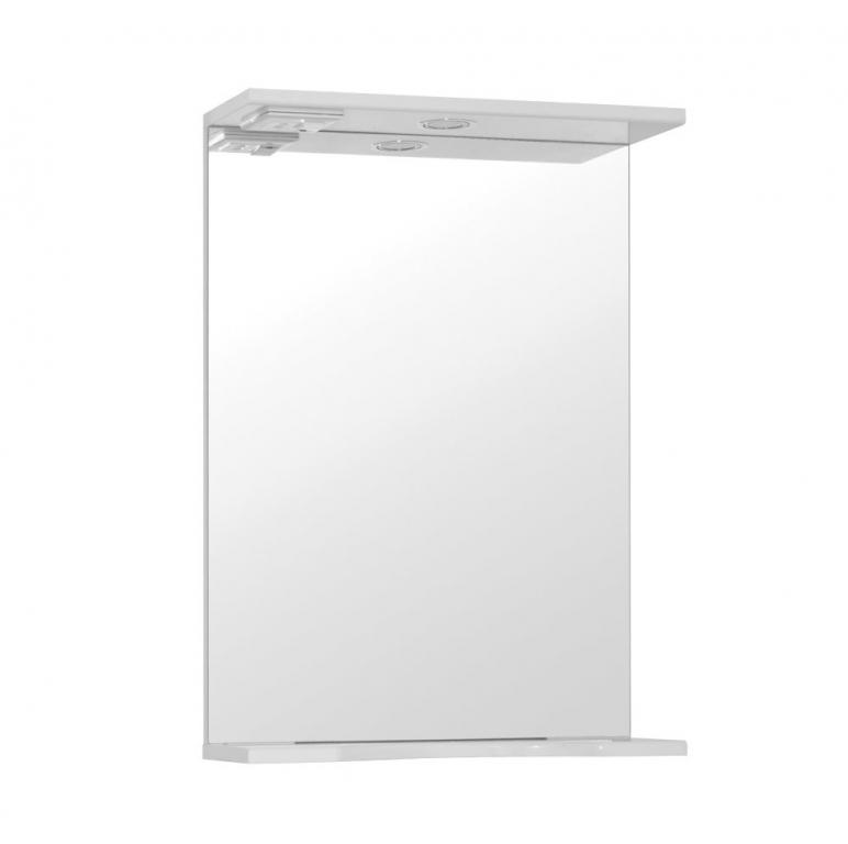 Купить Шкаф зеркальный (зеркало в ванную) Инга 50 со светом в интернет магазине мебели СТОЛПЛИТ