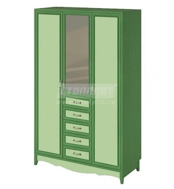 Купить Шкаф 3-дверный с зеркалом и с 5-ю ящиками в интернет магазине мебели СТОЛПЛИТ