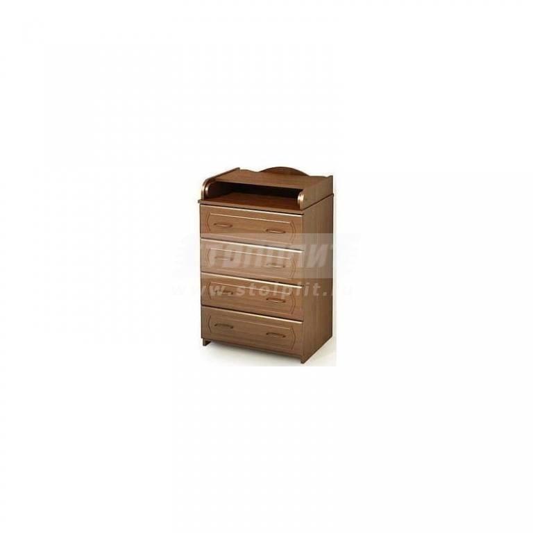 Купить Комод КП-2/60 МДФ тёмный-орех в интернет магазине мебели СТОЛПЛИТ