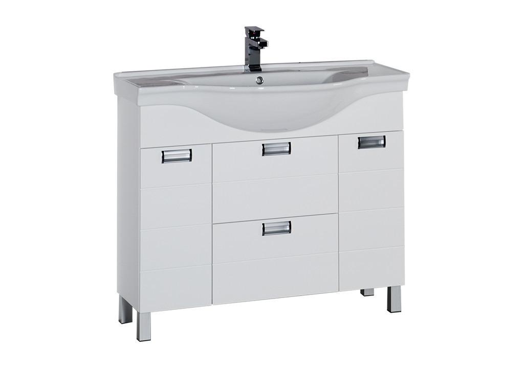 Купить Тумба Aquanet Сити 100 белый в интернет магазине мебели СТОЛПЛИТ