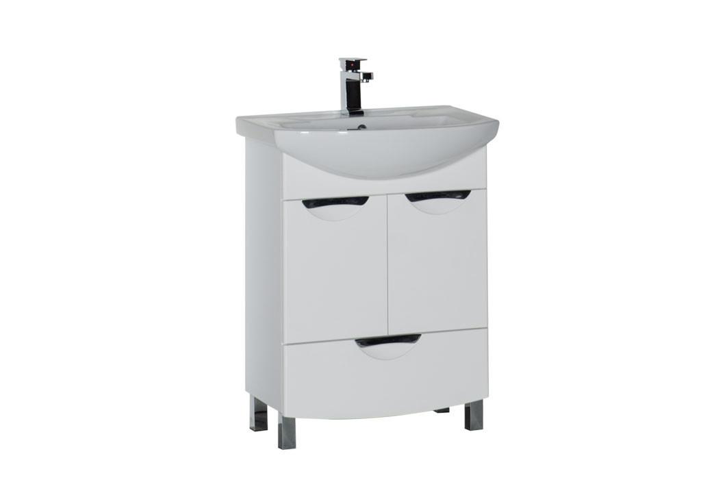 Купить Тумба Aquanet Парма 65 белый (1 ящик 2 дверцы) в интернет магазине мебели СТОЛПЛИТ