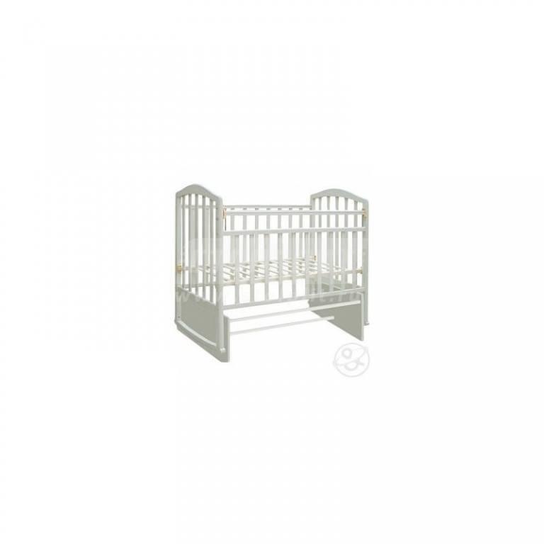 Купить Кровать детская Алита маятник-качалка, (белый) в интернет магазине мебели СТОЛПЛИТ