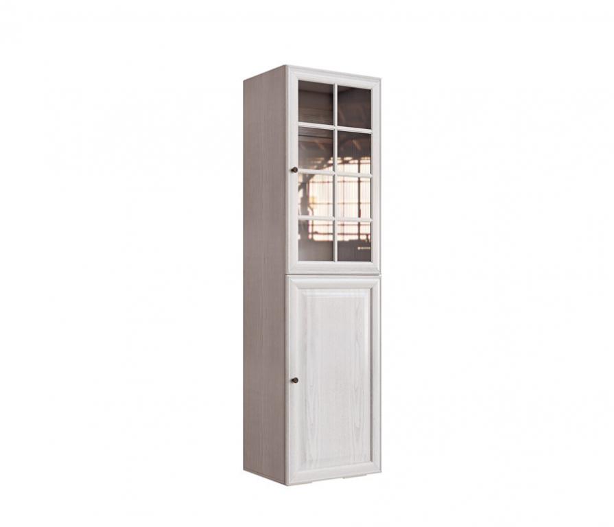 Гавана св-315/1 стеллаж-витрина (вудлайн кремовый/Ясень свет.