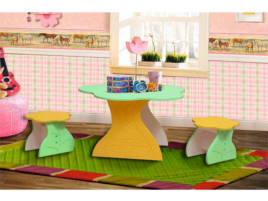 Купить Стол и стулья детские Цветочек в интернет магазине мебели СТОЛПЛИТ