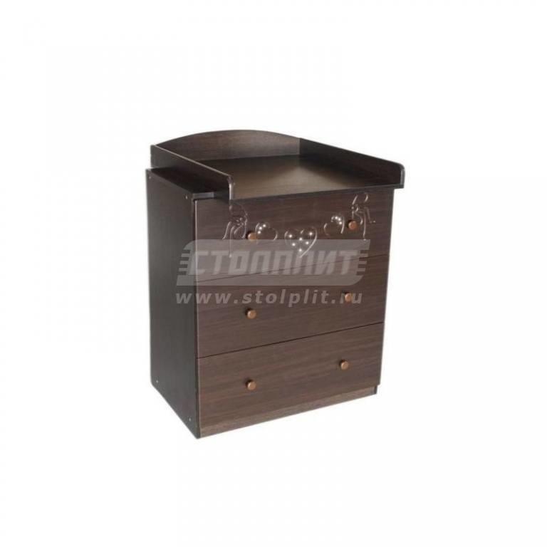 Купить Комод пеленальный Бантики шоколад в интернет магазине мебели СТОЛПЛИТ