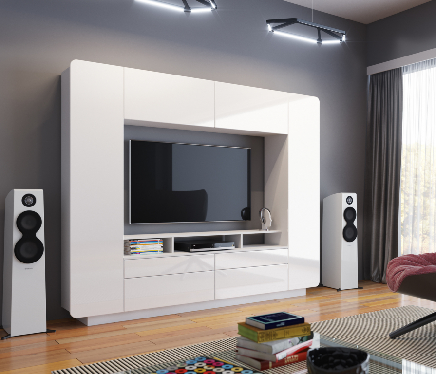 Купить Нео стенка белый в интернет магазине мебели СТОЛПЛИТ