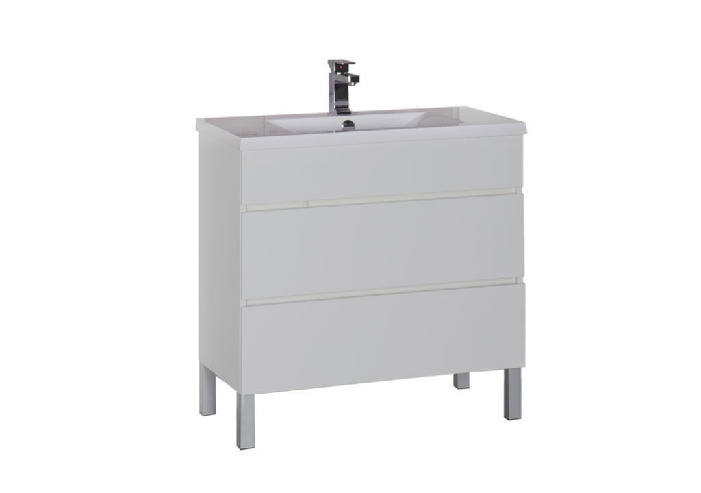 Купить Тумба Aquanet Лаконика 85 белый в интернет магазине мебели СТОЛПЛИТ